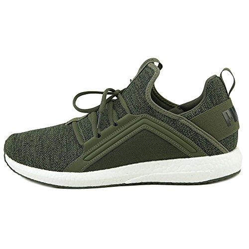Sneakers Puma Mega Nrgy Uomo In Pelle Sintetica Verde Oliva Notte / Puma Nero