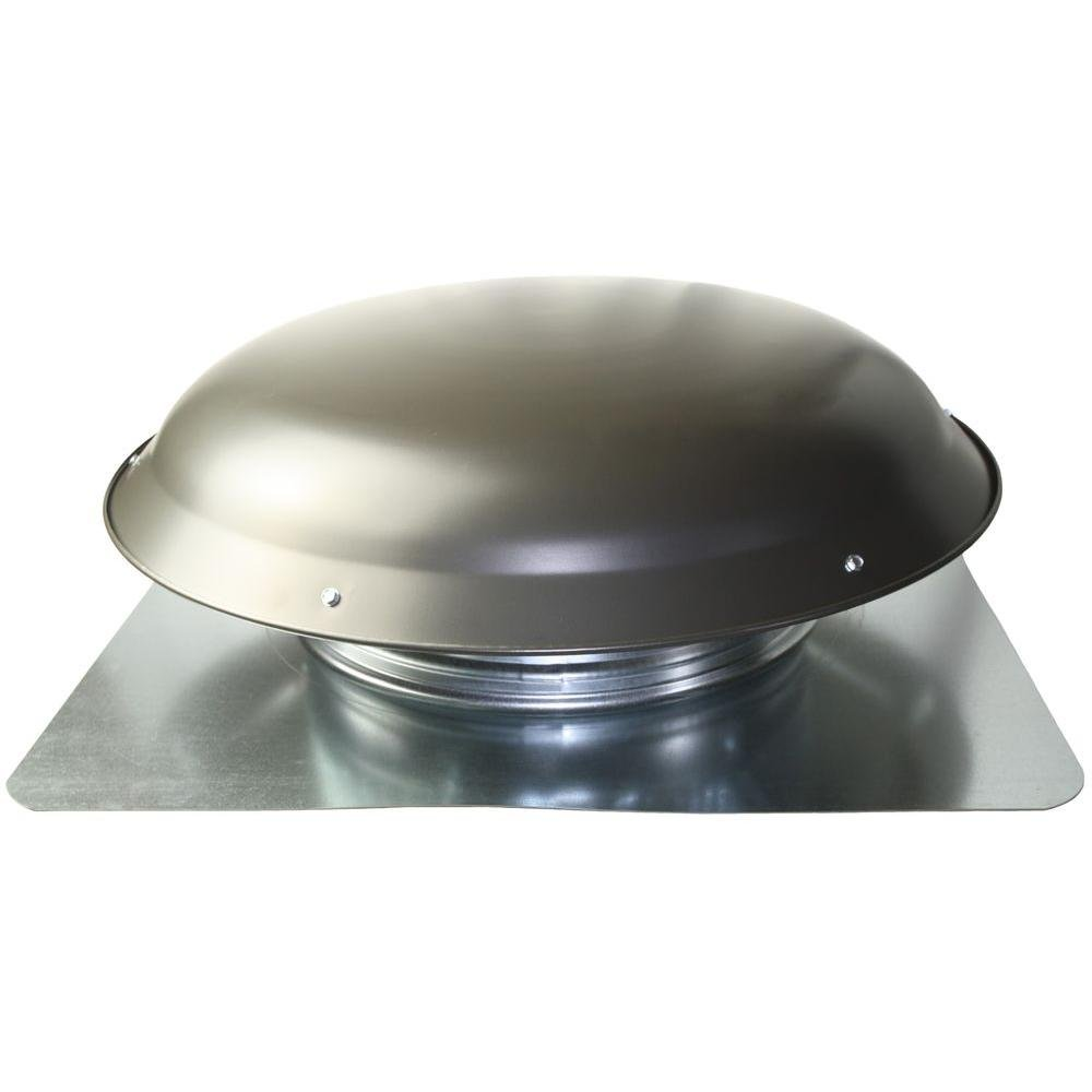 1400 CMF Power Roof Vent with Gray Galvanized Steel Dome