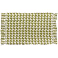Park Designs Houndstooth Cotton Rug 24 x 42 Aloe