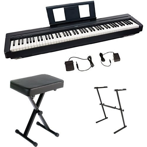 Check Out This Yamaha P45 Digital Piano Bundle with Z Stand and Bench, Black