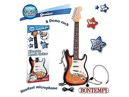 Guitarra eléctrica con micrófono juguete Giochi Educativi Aprendizaje Juguete Juegos Idea regalo Navidad # AG17
