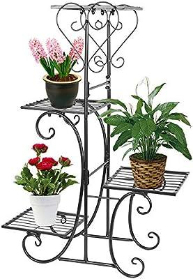 4 Tier Plant Stand Indoor Outdoor Plant Corner Shelf Flower Pot Plant Holder
