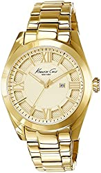 Kenneth Cole New York Women's 10023857 Dress Sport Analog Display Japanese Quartz Gold Watch
