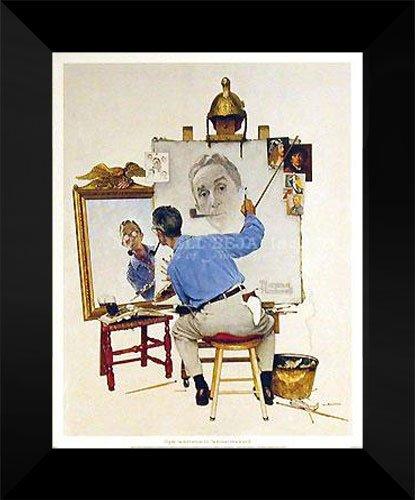 Norman Rockwell FRAMED Art 15x18
