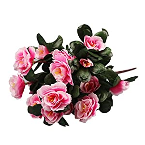 Ecosin Home Wedding Decoration Artificial Flowers Simulation Of Azalea Safflower (Pink) 111