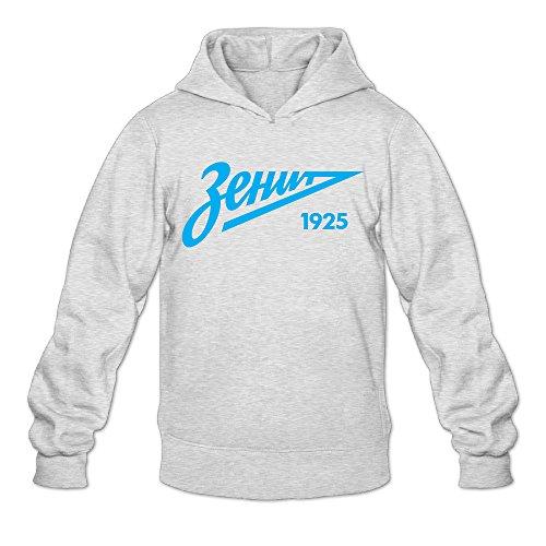 Geheimnis Gross Men's FC Zenit Hoodies Sweatshirt Size L US Ash
