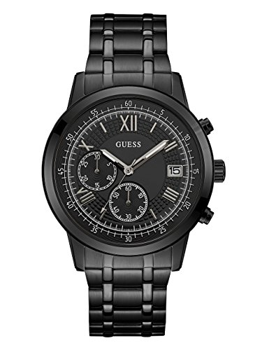 GUESS-Mens-Quartz-Stainless-Steel-Casual-Watch-ColorBlack-Model-U1001G3