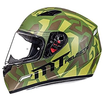 MT Mugello Casco de moto, diseño militar de camuflaje, de cara completa