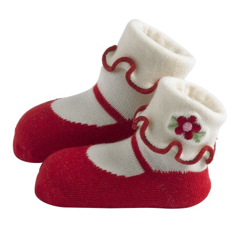 Cheap Jazzy Toes Rayon Collection Mary Janes Sock Set – Red-12-24M