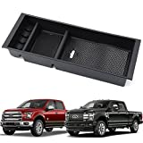 9 MOON Center Console Armrest Storage Box - With USB Hole - Insert Organizer Tray For Ford F150 2015 2016 2017 2018 - Car Interior Accessories - Portable Center Container