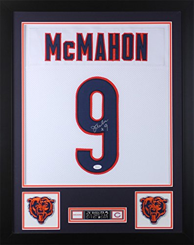bc9e417e2e4 Jim McMahon Autographed White Bears Jersey - Beautifully Matted and Framed  - Hand Signed By Jim