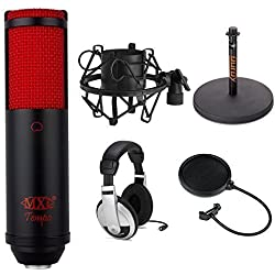 MXL TempoKR USB Condenser Microphone (Black & Red) Studio Bundle