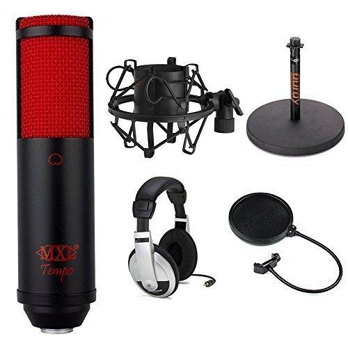 MXL TempoKR USB Condenser Microphone (Black & Red) Studio Bundle