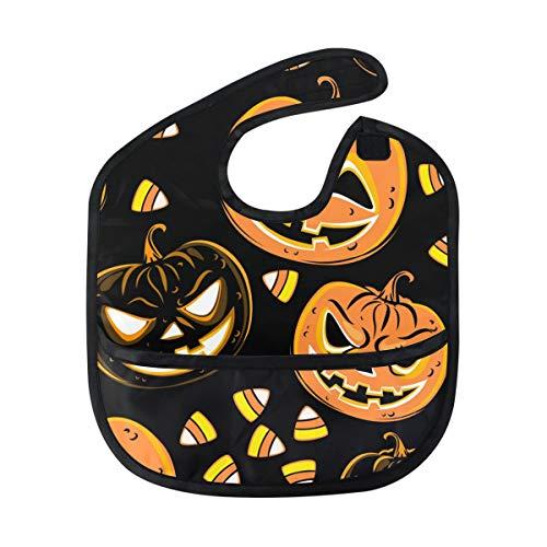 Bib Boy Girl Food Catcher Halloween Pumpkin Candy Weaning Baby Waterproof Toddler]()