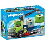 Playmobil City Action City Cleaning Glass Sorting Truck