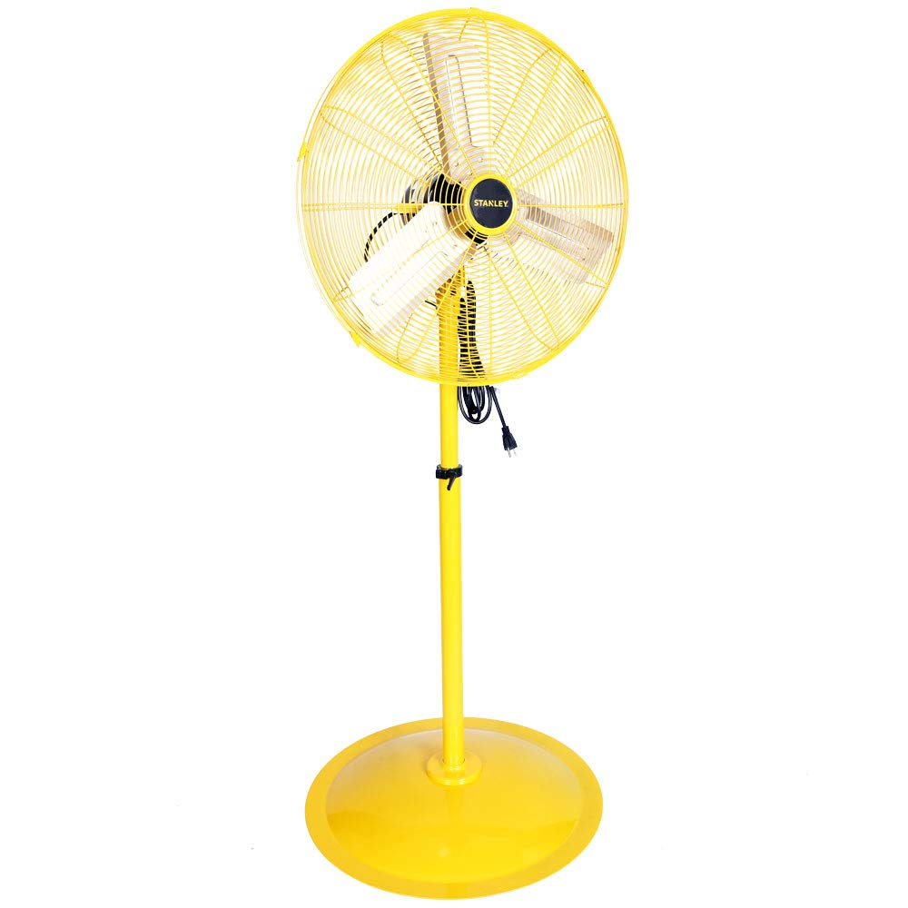 STANLEY ST-24POSC High Velocity Oscillating Pedestal Fan 24 Yellow, Black