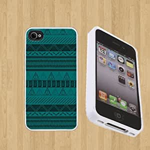 Harry Potter Tribal Print Custom Case/Cover FOR Apple iPhone 4 / 4s** WHITE** Rubber Case ( Ship From CA )