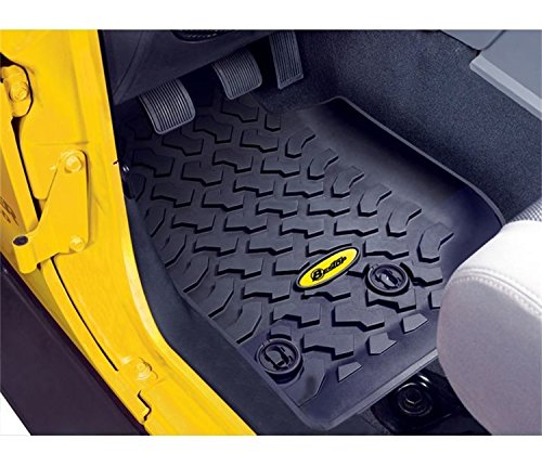 Bestop 51513-01 Front Pair of Floor Mats for Wrangler Unlimted for '14-'16