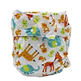 LukLoy Women's Adults Cloth Diapers for Incontinence Care Protective Underwear -Dual Opening Pocket Washable Adjustable Reusable Leakfree (Multicolor1)