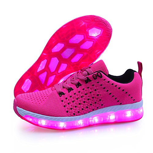 KE- Zapatillas de deporte con luces de LED 1Rose