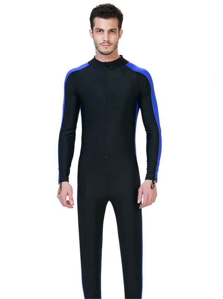 Fortuning's JDS® Men's UPF 50+ long sleeve swimwear full body swimming diving suit LUCKY BUTTERFLY