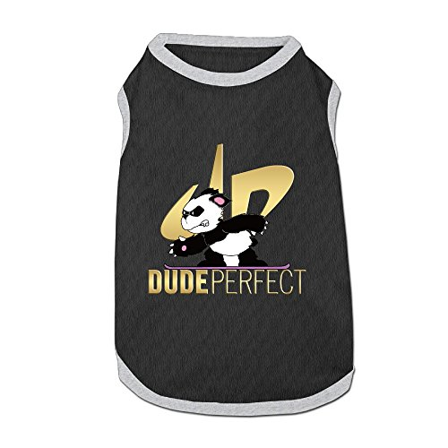 DP Panda Fashion Pet T-Shirt, Small Dog Cat Vest Clothes Puppy Shirt Designed For Small Breed Dogs And Cats L Black -