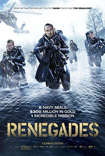 RENEGADES (2017) Original Authentic Movie Poster 27x40 - Double - Sided - Sullivan Stapleton - JK Simmons - Sylvia Hoeks