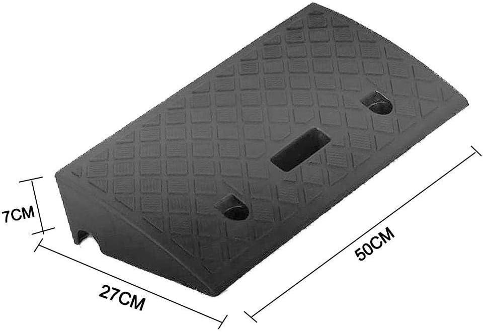 Rampas de goma para trabajo pesado Nueva portátil encintado Ligera coche de plástico Rampas Heavy Duty Plastic Kit fijado for el Camino de entrada del carro del coche para acceso para discapacitados e