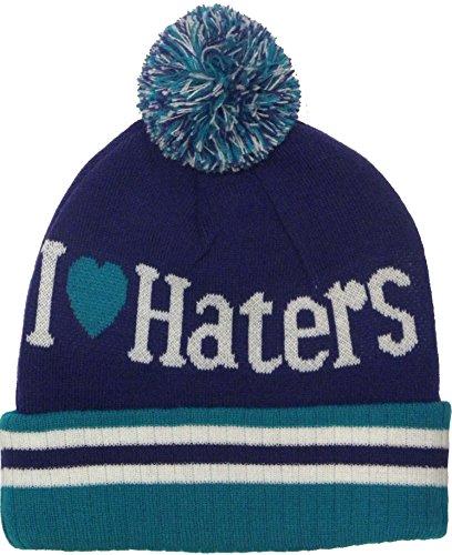 Haters up I invierno gorro rool Pom Emerald estilo gorro de lana punto de Purple Love Nuevo Green de q1FSAw