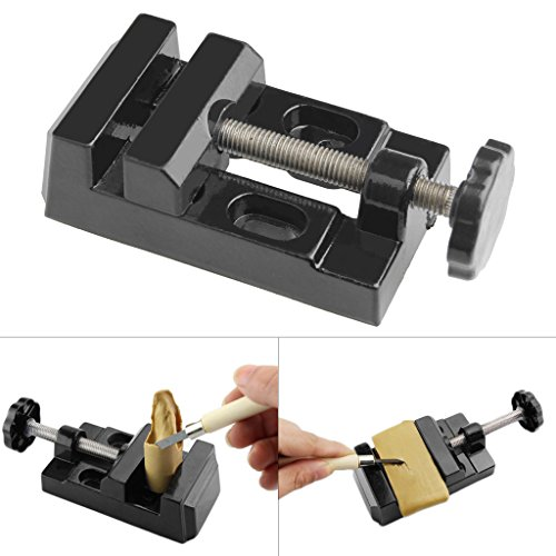 ULKEME Mini Alloy Aluminum Vise Precision Bench Craft Jewelry Clamp Light Table (Bench Vise Light)