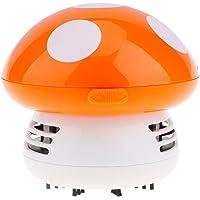 VANKER Mini Champignon Aspirateurs Vide Balayeuses de Nettoyage de Table(Orange)