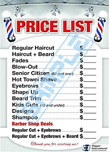 Price Barber poster already laminated product image