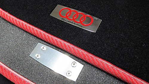 kit-car Audi Quattro Style - Metal Emblem Badge Logo for Floor Mats for Audi Cars - Set of 2 pcs
