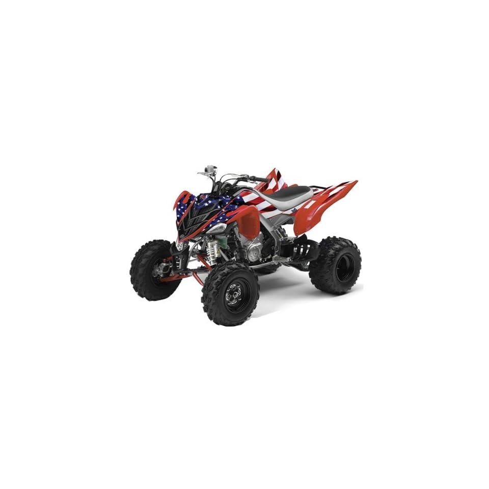 AMR Racing Yamaha Raptor 700 ATV Quad Graphic Kit   Stars and Stripes Red, W