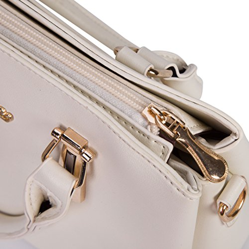 Women's Designer Top Handle Handbag Tote Crossbody Bag Pu Faux Leather Purse