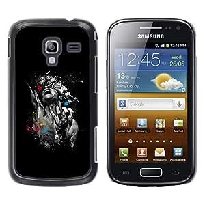 TopCaseStore / la caja del caucho duro de la cubierta de protección de la piel - Abstract Art - Samsung Galaxy Ace 2 I8160 Ace II X S7560M