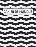Cahier de Musique: 110 pages | 21,59 cm x 27,94 cm (à propos de DIN A4)  | Pour débutants et avancés | avec 12 Pentagrammes par page | avec portée | (French Edition)