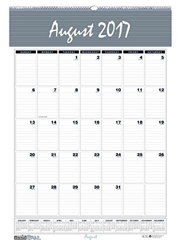 House of Doolittle 2017 - 2018 Monthly Wall Calendar, Academic, Bar Harbor, 12 x 17 Inches, August - July (HOD352-18)