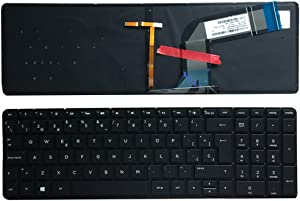 Laptop Replacement Keyboard Fit HP Pavilion 15-P030NR 15-P042NR 15-P043NR 15-P044NR 15-P045NR 15-P221NR 15-P222NR 15-P223NR Spanish Layout Backlight