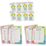 Fun Express Baby Shower Game Sheets Bundle | Scratch Tickets, Word Scramble, from A to Z | Great for Baby Boy Shower Party, Baby Girl Shower Party, Gender Reveal Party
