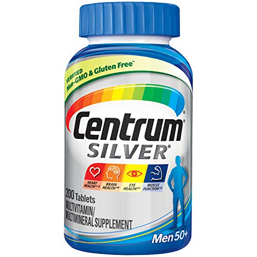- Centrum Silver Men (200 Count) Multivitamin / Multimineral Supplement Tablet, Vitamin D3, Age 50+