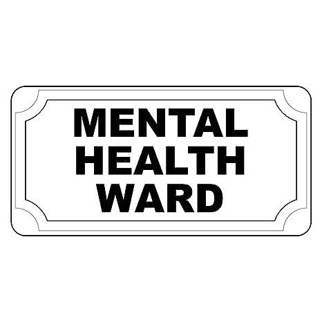 Amazon.com: Mental Health Ward – Cartel retro de estilo ...