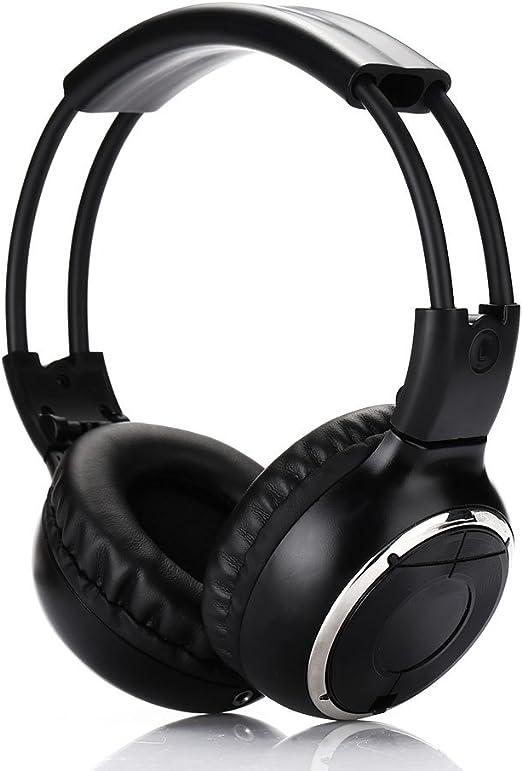 Auriculares infrarrojas de doble canal, auriculares estéreo de la música del sonido del IR sobre el oído para el coche, la sala de juegos, el televisor casero y el reproductor de DVD: