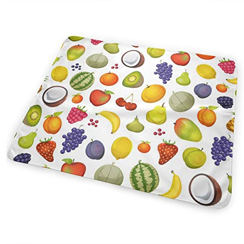 (Pamdart Apple Coconut Strawberry Watermelon Mango Pear Personalized Waterproof Leakproof Replacement Diaper Pad Reusable for Unisex Baby )