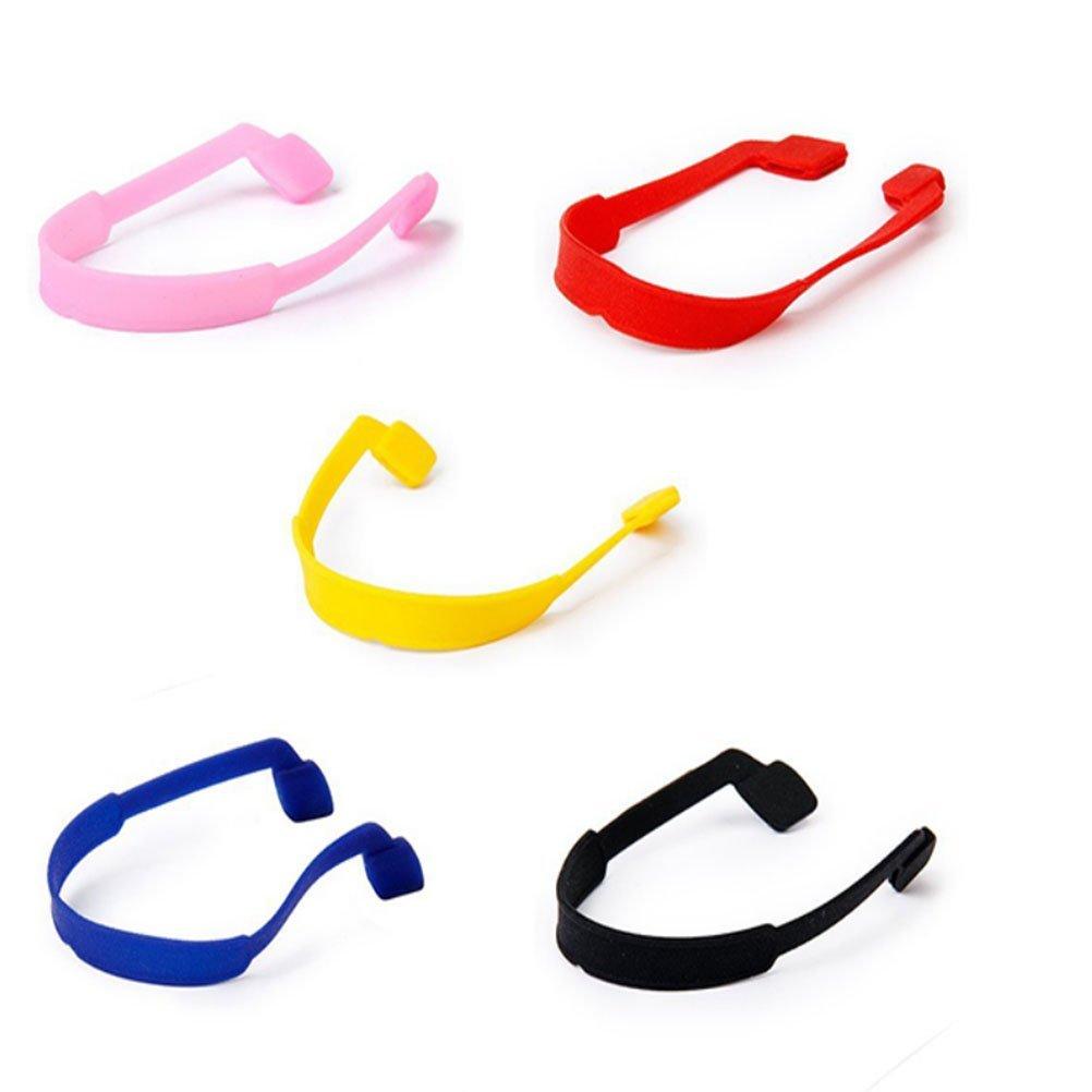 Nuolux catenina per occhiali da vista occhiali da sole cinghia antiscivolo in silicone elastico 5 colori.