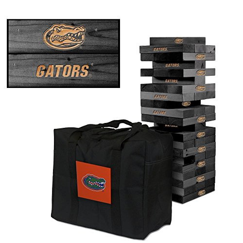 NCAA Florida Gators Uf Florida Onyx Stained Giant Wooden Tumble Tower Game, Multicolor, One Size by Victory Tailgate
