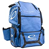 Latitude 64 DG Luxury E3 Backpack Disc Golf Bag (Blue/Black)