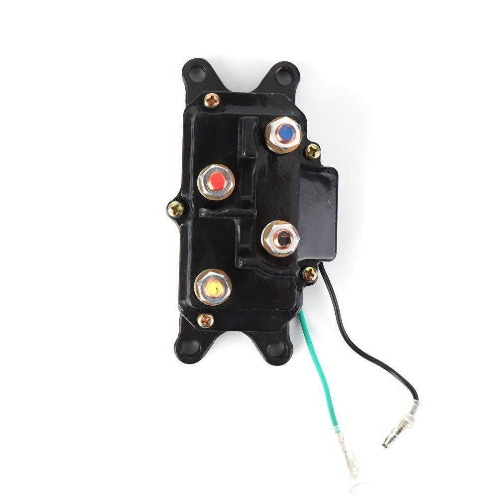 SODIAL Contacteur De Relais D/électrovanne De Treuil 12V 250A pour ATV Utv 2000-5000Lbs Treuil