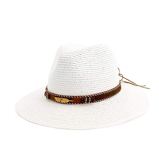 ZRL77y Sun Beach Sombrero De Paja Sombrero De ala Ancha Plegable ...