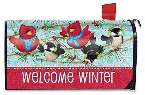 Songbird Box - Briarwood Lane Winter Songbirds Primitive Large Mailbox Cover Humor Oversized